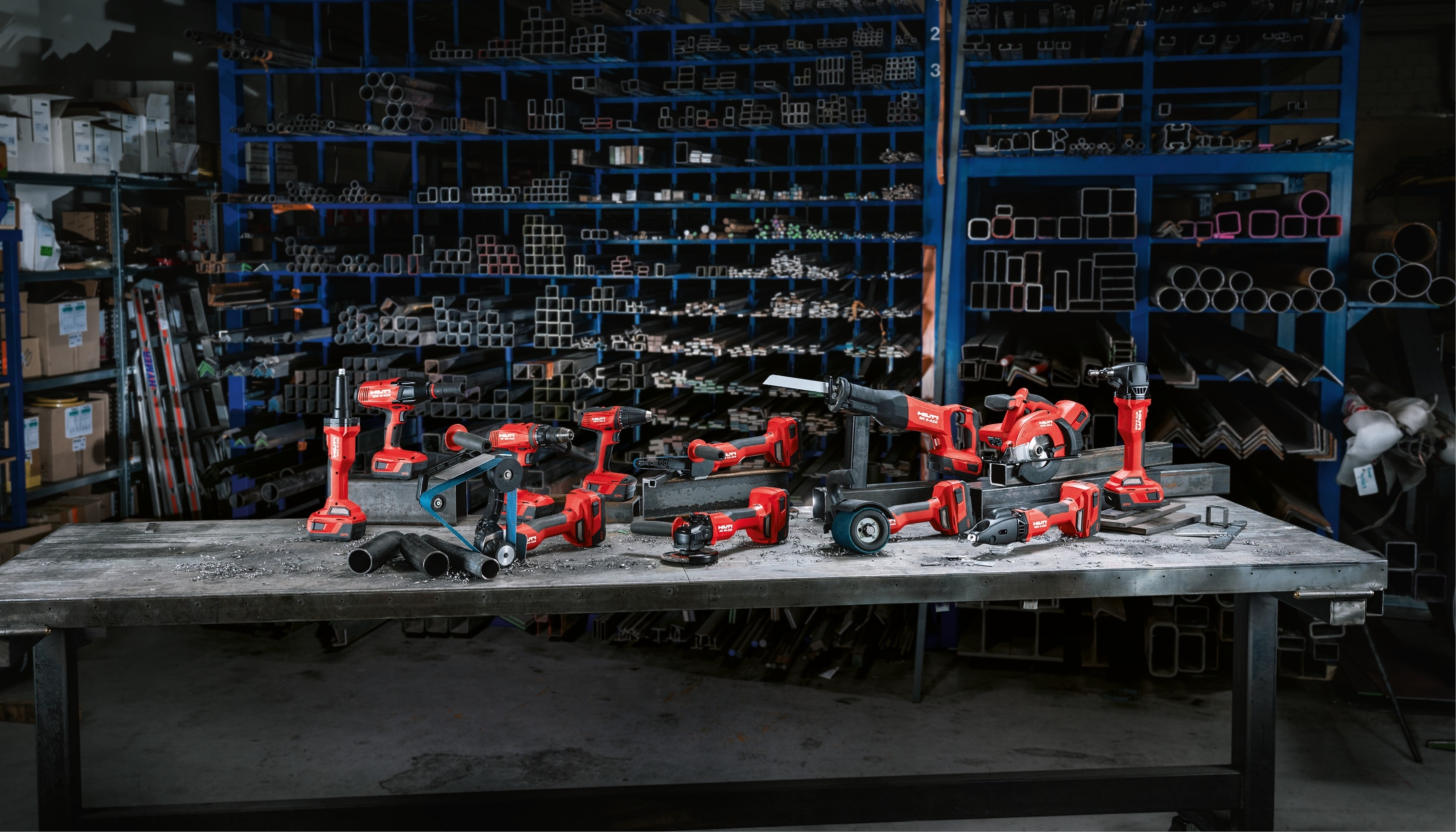The Hilti range of cordless tools for metal fabrication.