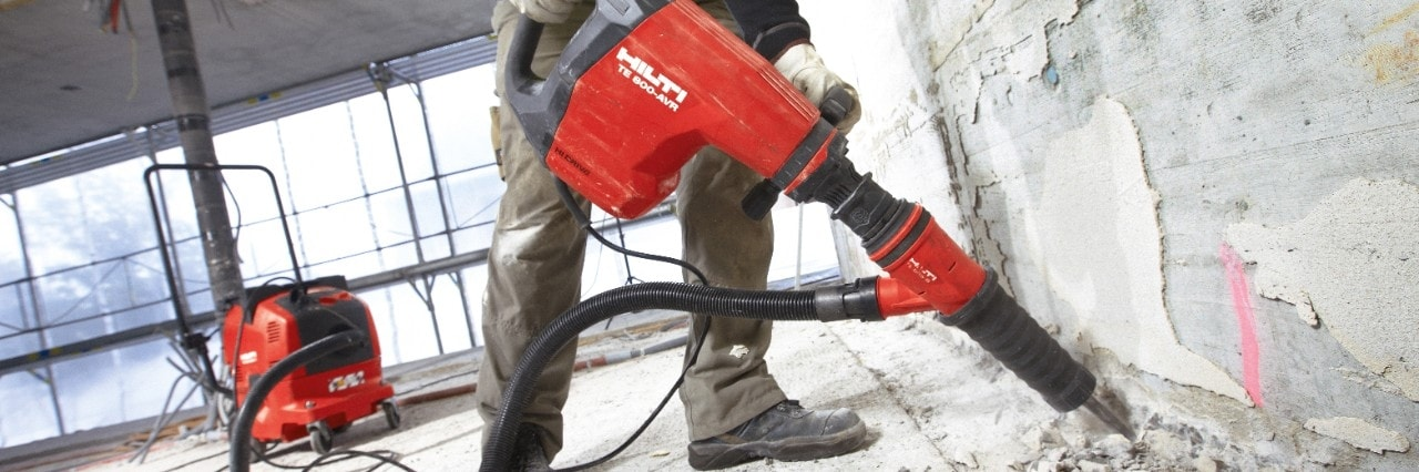 Hilti dust removal system for breakers
