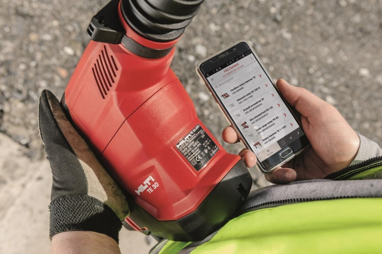 Indentifying tools with Hilti Connect app