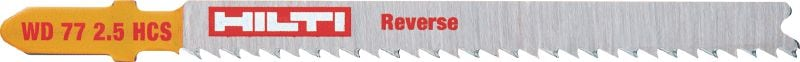 Reverse wood cutting Premium jig saw blade for almost splinter-free surfaces in softwood and wood composites up to 30 mm thick