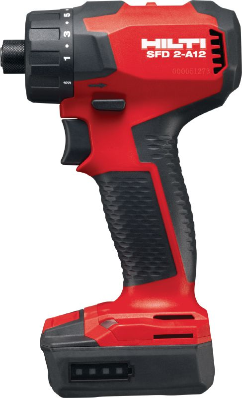 SFD 2-A12 Subcompact-class cordless 12V Li-ion screw driver with brushless motor and 1/4 hexagonal chuck for when you need compactness and fine torque control