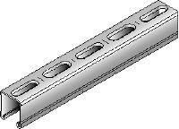 MM-C-36 Galvanised 36 mm high MM strut channel for light- to medium-duty applications