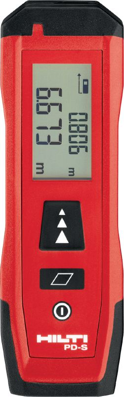 PD-S Laser meter Easy-to-use laser meter for distance and area measurements up to 60 m