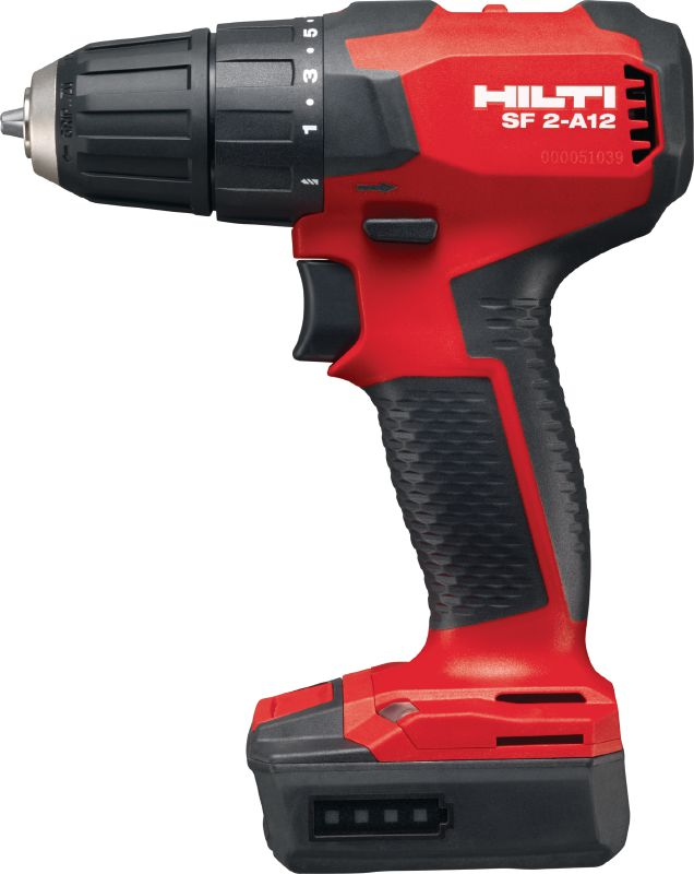 SF 2-A12 Subcompact-class cordless 12V Li-ion drill driver with brushless motor and 10 mm keyless chuck for when you need access, low weight and precise control