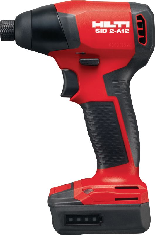 SID 2-A12 Subcompact-class cordless 12V Li-ion impact driver with brushless motor and 1/4 hexagonal chuck, for when you need access and low weight without sacrificing high torque