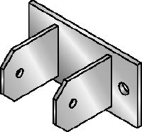 MIC-CU-MAH Hot-dip galvanised (HDG) connector for fastening girders directly to concrete at angles between 0 and 180 degrees