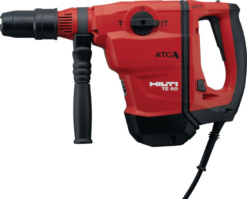 TE 60-ATC-AVR Versatile and powerful SDS Max (TE-Y) rotary hammer for concrete drilling and chiselling, with Active Vibration Reduction (AVR) and Active Torque Control (ATC)