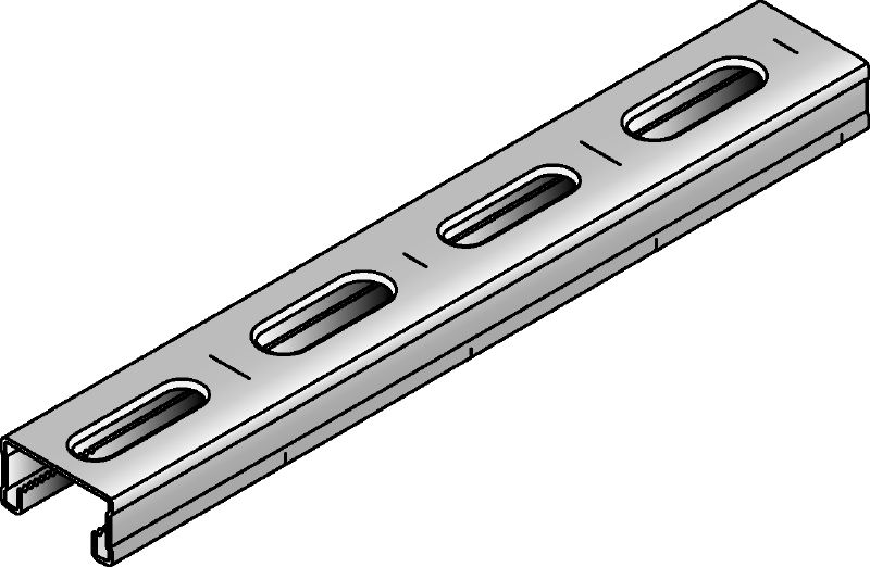 MM-C-16 Galvanised 16 mm high MM strut channel for light-duty applications
