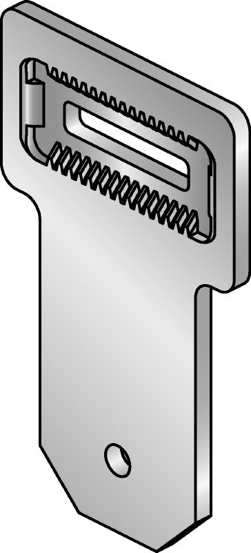 MIC-U-MA Hot-dip galvanised (HDG) multi-angle connector used with MIC-MAH connectors for fastening MI girders to one another at an angle