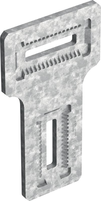MIC-T Hot-dip galvanised (HDG) connector for fastening MI girders perpendicularly to one another