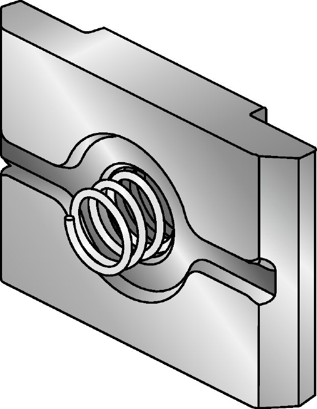 MIA-EH-P Hot-dip galvanised (HDG) plate for easier fastening and one-handed adjustment of MI and MIQ connectors