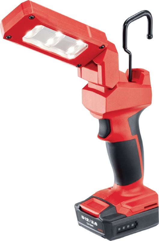 SL 2-A12 Cordless 12V LED task light with flexible head for illuminating confined and medium-sized work areas