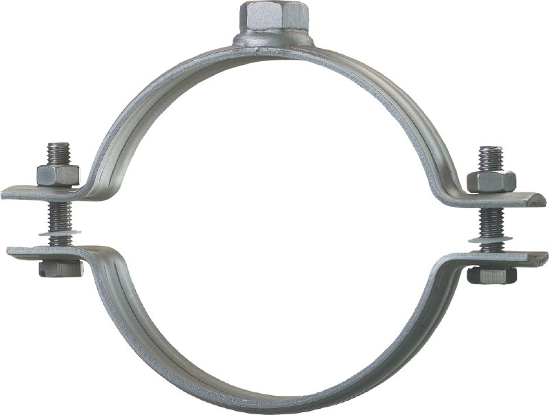 MP-MR Standard stainless steel pipe clamp without sound inlay for heavy-duty piping applications