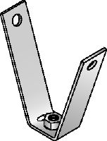 MF-TSH Galvanised decking hanger for fastening threaded rods to trapezoidal metal sheets