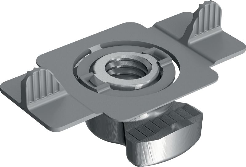 MQM-R Stainless steel wing nut for connecting modular support system components