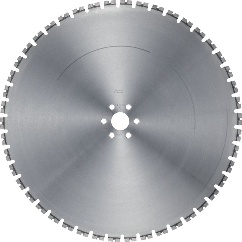 MCS Equidist-60H Ultimate wall saw blade (15 kW) for high speed and a long lifetime in reinforced concrete (60H arbor)