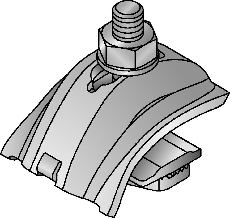 MQT-U Beam clamp for universal use on the open side or back of the channel