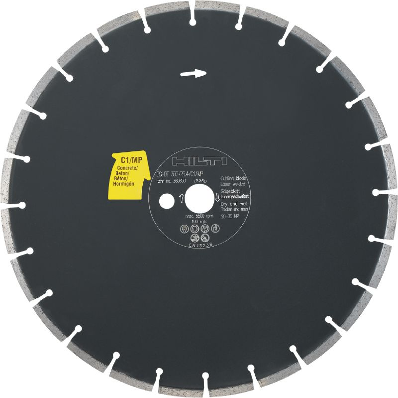 Floor saw blade concrete C1/MP Premium floor saw blade (20-35 HP) for floor sawing machines – designed for cutting concrete