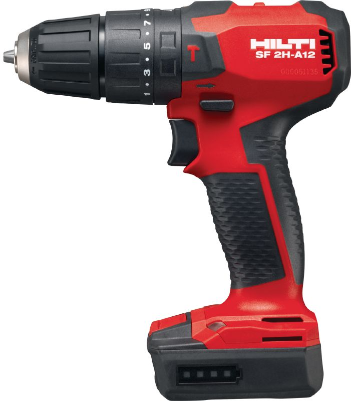 SF 2H-A12 Subcompact-class cordless 12V Li-ion hammer drill driver with brushless motor and 10 mm keyless chuck for when you need access, low weight and precise control