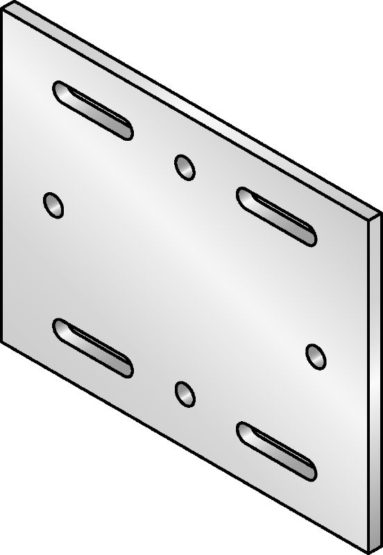 MIQB-S Hot-dip galvanised (HDG) baseplate for fastening MIQ girders to steel