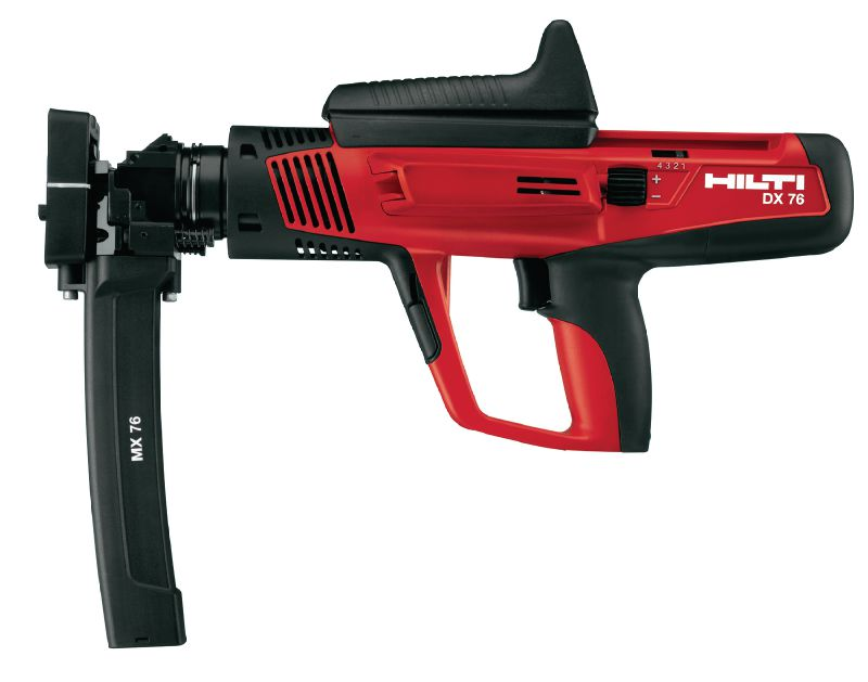 DX 76 Semi-automatic, high-productivity, powder-actuated nailer for fastening metal decks