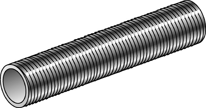 GR-G-F Hot-dip galvanised (HDG) threaded pipe with 4.8 steel grade used as an accessory for various applications