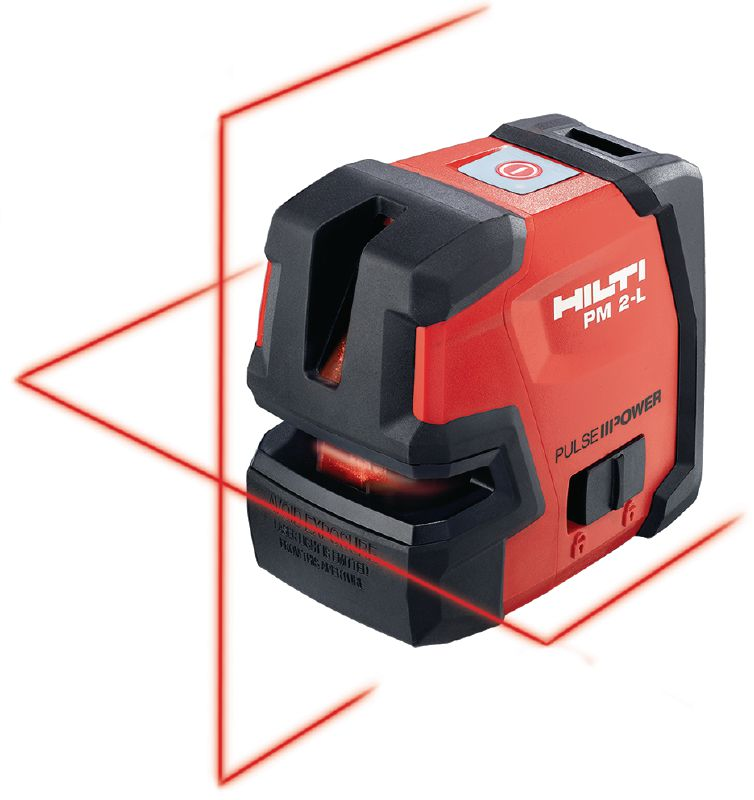 PM 2-L Line laser with 2 lines for levelling, aligning and squaring with red beam