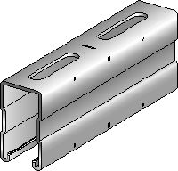 MQ-72-F Hot-dip galvanised (HDG) 72 mm high MQ strut channel for medium/heavy-duty applications
