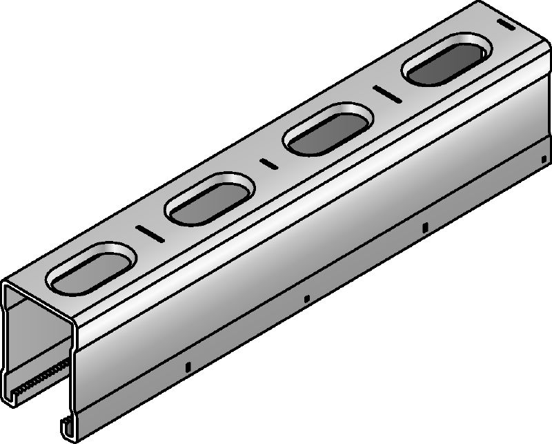 MM-C-45 Galvanised 45 mm high MM strut channel for light- to medium-duty applications